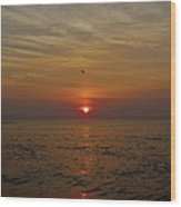 Hatteras Island Sunrise 2 8/21 Wood Print