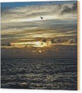 Hatteras Island Sunrise 2 9/10 Wood Print