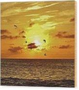 Hatteras Island Sunrise 20 9/3 Wood Print