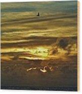 Hatteras Island Sunrise 3 9/10 Wood Print