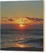 Hatteras Island Sunrise 4 11/03 Wood Print