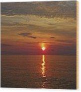 Hatteras Island Sunrise 8/18 Wood Print