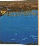 Hatteras Reflection 6 10/31 Wood Print