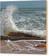 Hatteras Waves Wood Print