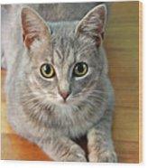 Hattie The Kitty Wood Print
