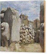Hattusha The Hittite Capital Wood Print