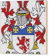 Haugher Coat Of Arms Irish Wood Print