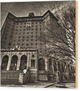 Haunted Baker Hotel Wood Print