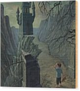 Haunted Castle Nightmare Wood Print by Martin Davey