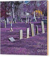 Haunted Cemetery Wood Print