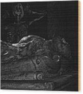 Haunted Crypt Wood Print
