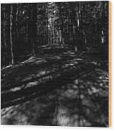 Haunted Forest Wood Print