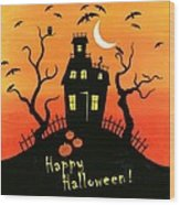 Haunted House Part One Wood Print by Linda Mears