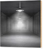 Haunted Jail Corridor And Cells Wood Print by Allan Swart