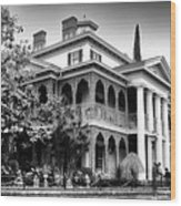 Haunted Mansion New Orleans Disneyland Bw Wood Print