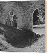 Haunted Mortemer Abbey Wood Print