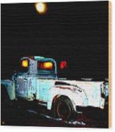 Haunted Truck Wood Print