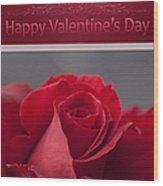 Hau'oli Ka La Aloha Kakou - Happy Valentine's Day Wood Print