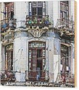 Havana Balconies Wood Print