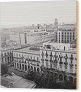 Havana Skyline Wood Print