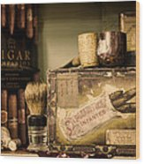 Have A Cigar Wood Print by Heather Applegate