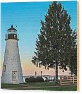 Concord Point Light ... Havre De Grace Md Wood Print