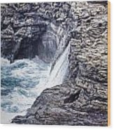 Hawaii Big Island Coastline V2 Wood Print