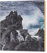 Hawaii Big Island Coastline V4 Wood Print