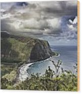 Hawaii Coastline Kauai  Wood Print