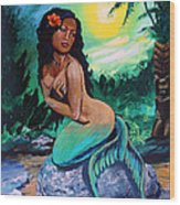 Hawaii Mermaid Wood Print
