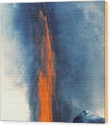 Hawaii Pu U O O Vent Diminishing Lava Eruption At End Of Phase Wood Print