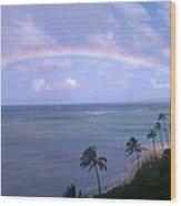 Hawaii Rainbow Wood Print