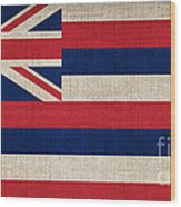 Hawaii State Flag  Wood Print