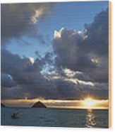 Hawaii Sunrise Wood Print