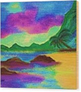 Hawaii Tropical Ocean Vision Wood Print