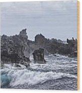 Hawaii Waves V1 Wood Print