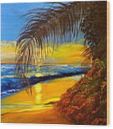 Hawaiian Coastal Sunset Wood Print