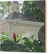 Hawaiian Gazebo Wood Print