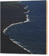 Hawaiian Goddess Meets The Sea Wood Print by Tara Miller