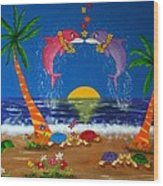 Hawaiian Island Love Wood Print