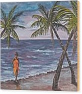 Hawaiian Maiden Wood Print