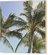 Hawaiian Palm Trees Wood Print