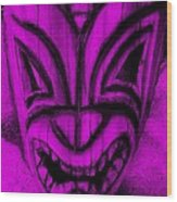 Hawaiian Purple Mask Wood Print