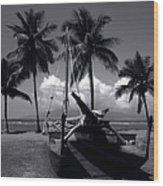 Hawaiian Sailing Canoe Maui Hawaii Wood Print