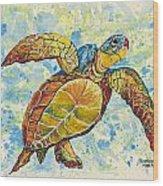 Hawaiian Sea Turtle 2 Wood Print