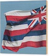 Hawaiian State Flag, Oahu, Hawaii Wood Print