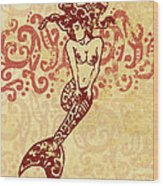 Hawaiian Style Mermaid Wood Print