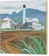 Hawaiian Sugar Mill Wood Print