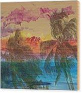 Hawaiian Sunset Wood Print