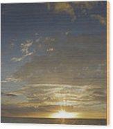 Hawaiian Sunset Panorama Wood Print